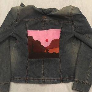 Western Sunset painted DKNY jacket